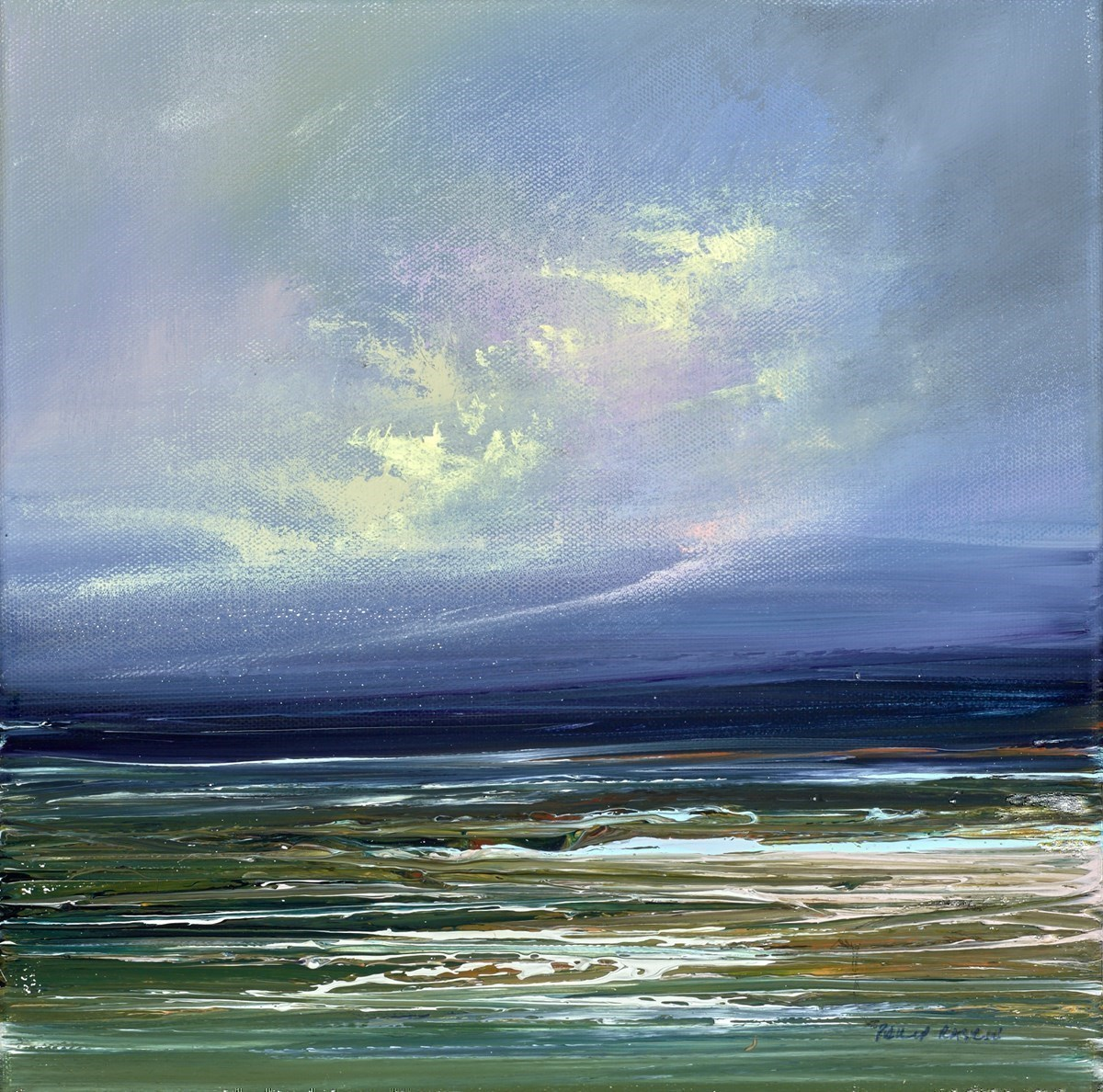 Passing Storm IV by Philip Raskin -  sized 12x12 inches. Available from Whitewall Galleries